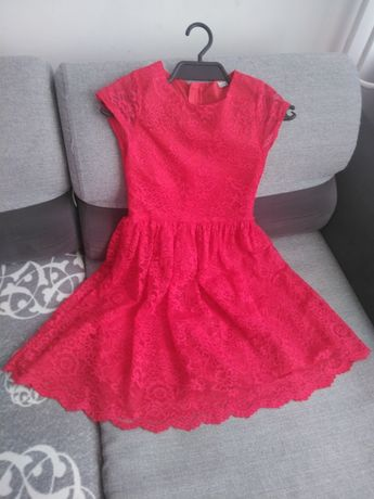 Sukienka koronkowa r.146 STAN IDEALNY/ 40zł.
