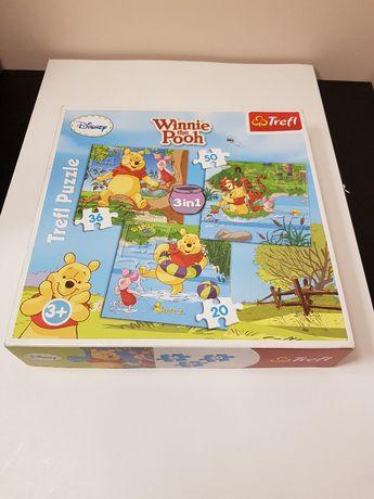 Puzzle Trefl Kubuś Puchatek 3x1 Disney