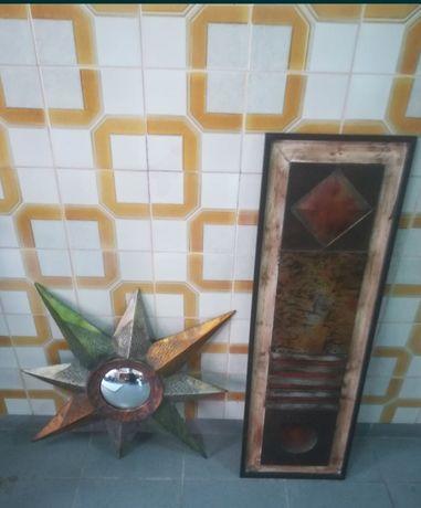 Estrela metal +quadro de metal e quadro decorativo muito bonito