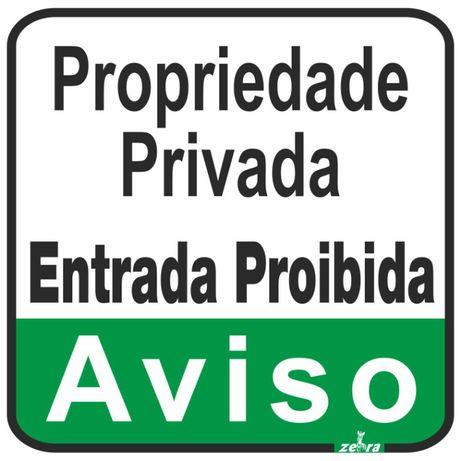 Placa / cartaz / sinal / Aviso Propriedade Privada 25x30cm Verde