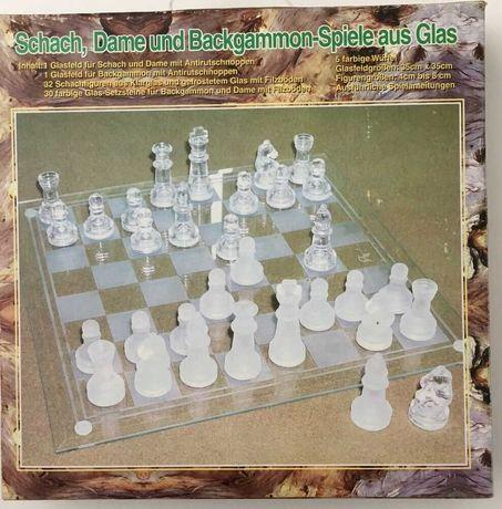 Игровой набор 3 в 1 (шахматы, шашки, нарды) стекло