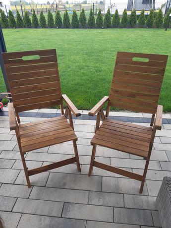 Fotel ogrodowy drewniany rozkładany  2szt.