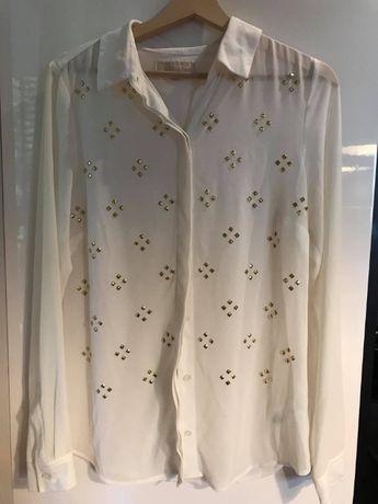 Koszula Michael Kors ćwieki transparentna S/M
