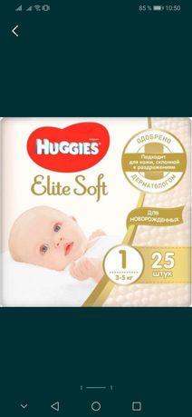 Подгузники Huggies Elite Soft 1 25 штук