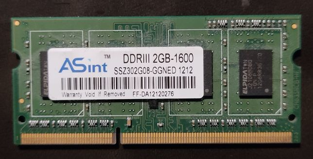 Memória RAM de 2GB - DDR3 - 1600