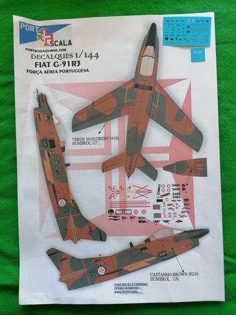 1/144 decalques IPMS Portugal North American Harvard FIAT G91 Gina FAP