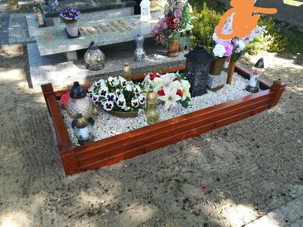 Skrzynka skrzynia cmentarna na grób cmentarz brązowa