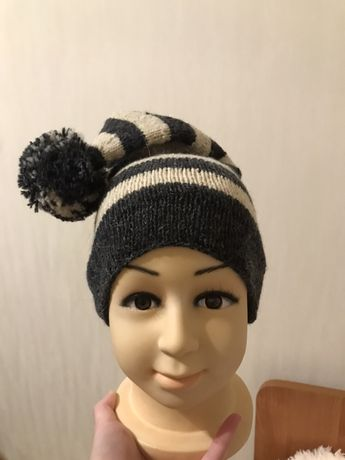 Детская шапочка-колпак из натуральной шерсти