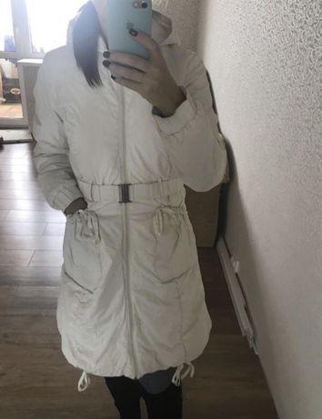 Белый женский плащ 42 44 размер