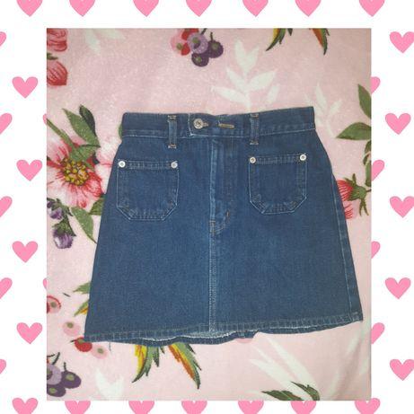 Джинсова юбка, розмір XS