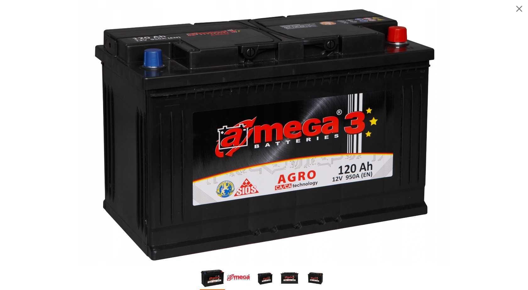 Amega M3 12V 120AH 950A Agro Brzeziny