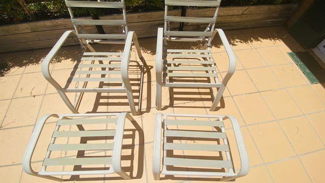 Cadeiras Americanas para jardim ou piscina.