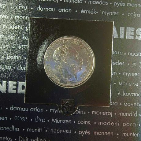 Węgry 1 Forint 1888, srebro stan ++1
