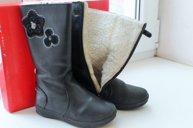 Зимние кожаные сапоги Garvalin 28 р, 17,5 см и 29 р (18,5 см)