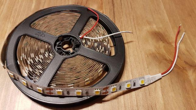 Taśma LED 5050 IP20 5m 12V Biały CIEPŁY 60diod/m 300 diod/5m
