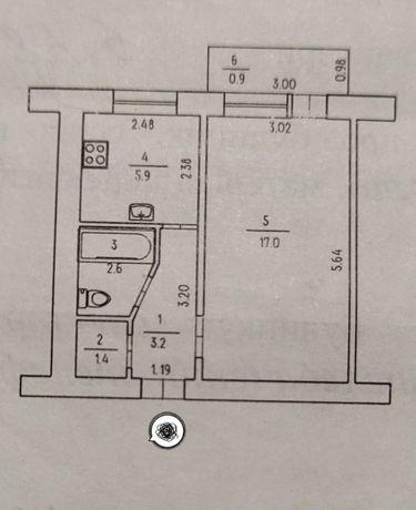 Продается 1 комнатная квартира а районе рынка Колос