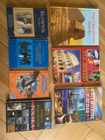 Encyklopedie dla dzieci, mity, słownik, księga rekordów