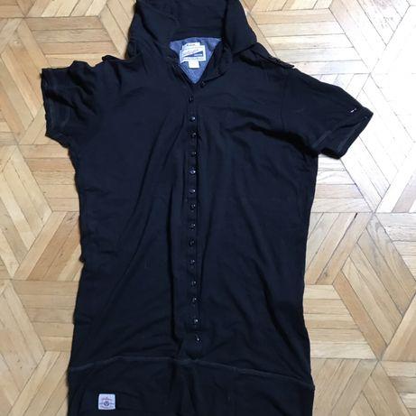 T-shirt, polo, Tommy Hilfiger M, czarna