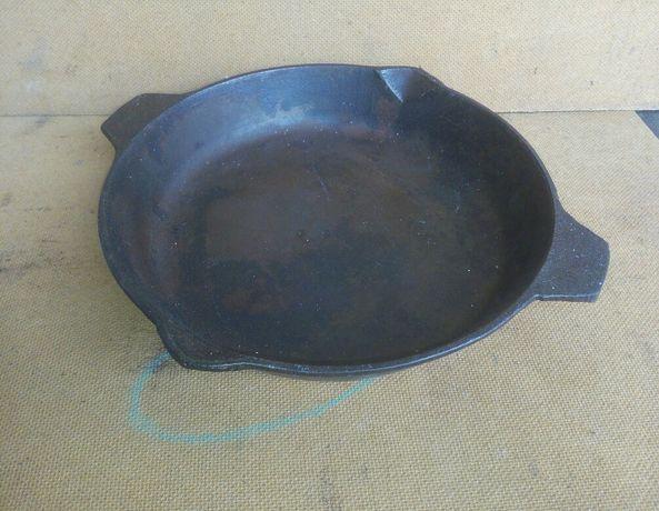 Новая СССР чугунная сковорода Ø диаметр 24,5см пательня сковорідка