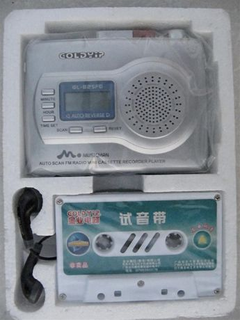 Плеер кассетный Goldyip GL-825FD в коллекцию,запись,автореверс,новый