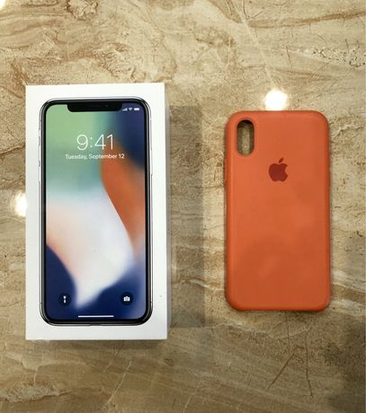 Iphone X case oranż papaya kumkwat