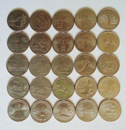 Квотеры США, 25 центов
