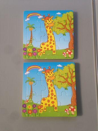 Drewniane puzzle żyrafa