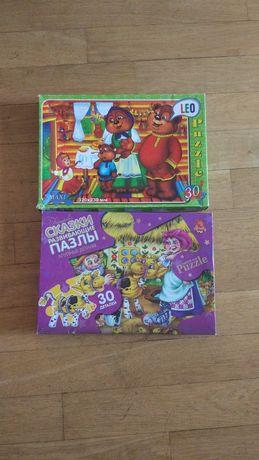 Отдам 2 коробки пазлов (крупные для малышей) за 40 грн обе!