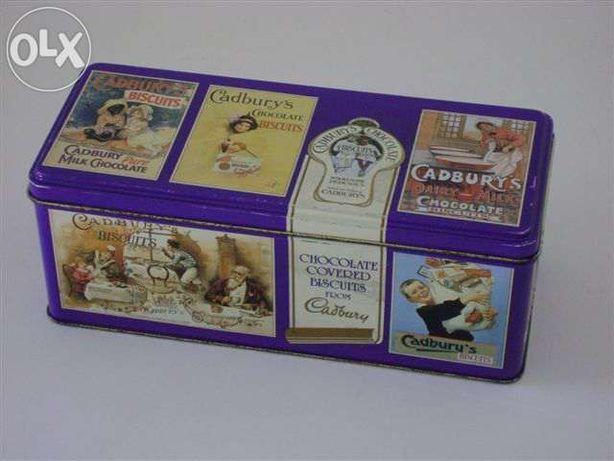 Lata Cadbury e lata da Dan Cake (década de 80)