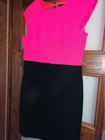 Sukienka różowo - czarna