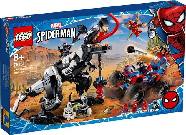 Lego Super Heroes Человек-Паук: Засада на веномозавра 76151