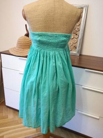 Mini sukienka miętowa Cubus