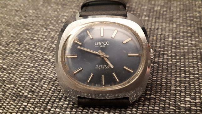 Płaski śliczny zegarek LANCO swiss 17 Jewels Incabloc Galeria Sztuki