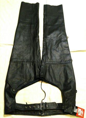 Last Rebels штани чапсы M-L кожаные шкіряні брюки мотоштаны наштанники