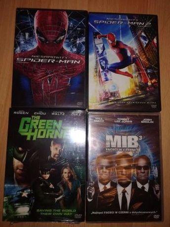 spiderman 1,2, green hornet men in black dvd