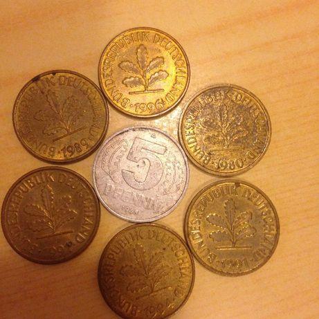 Продам коллекцию монет 5 пфеннигов \Германия\