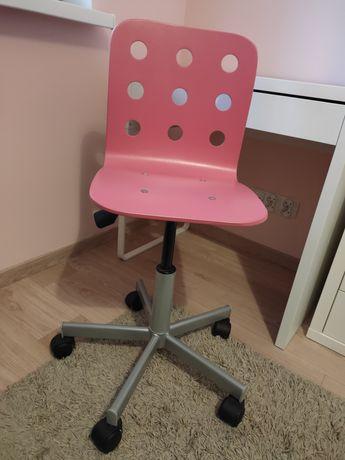 Krzesło obrotowe IKEA Jules różowe