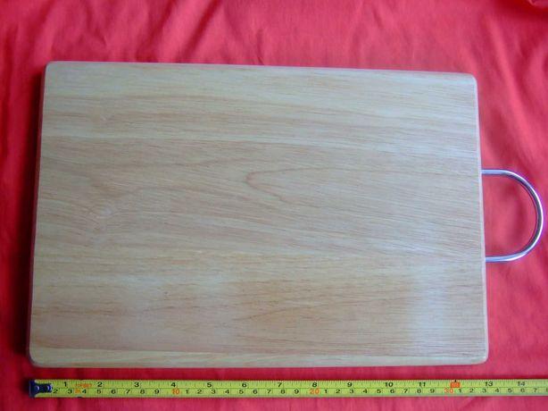 Deska do serwowania do krojenia lite drewno z uchwytem