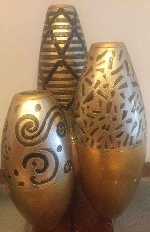 Peça decorativa da Lam Lee folha de ouro e prata