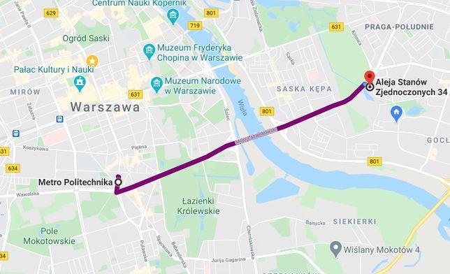 Pokój w Warszawie -> widok na Pałac Kultury i Stadion Narodowy
