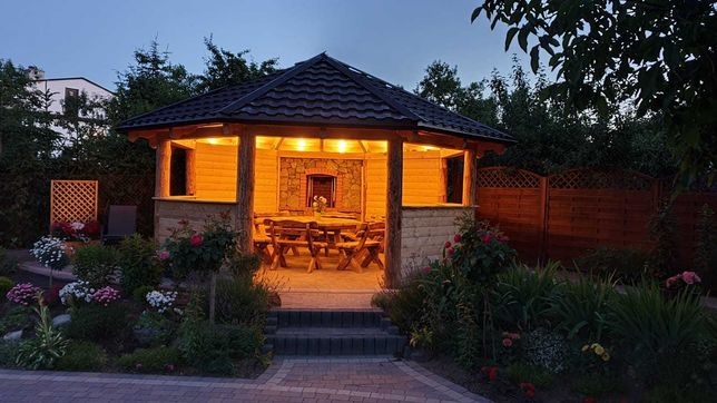 Altana ogrodowa, domek drewniany dla dzieci wg życzeń klienta