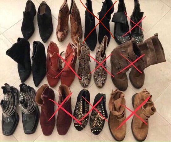 Lote de botas de senhora marcas ZARA e MANGO tamanho 38