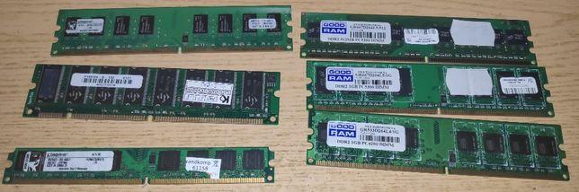 Różne pamięci RAM DDR2 do komputera nietestowane