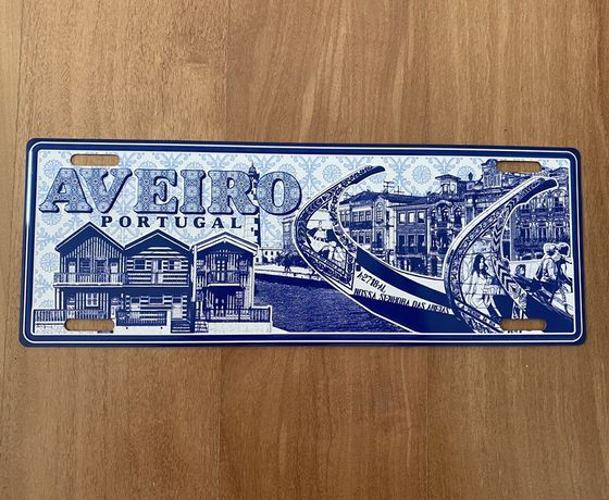 AVEIRO - placa matricula em metal para decoraçao estilo vintage (nova)
