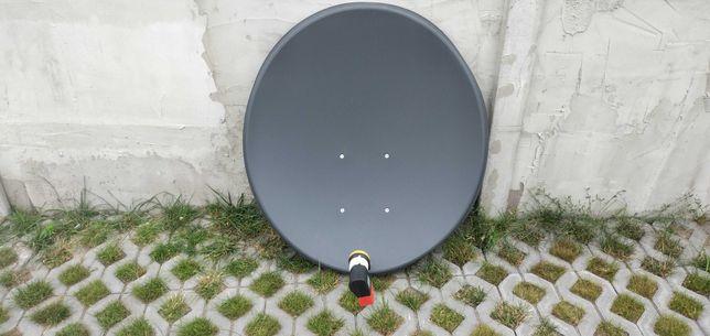 półroczna antena satelitarna z podwójnym konwektorem