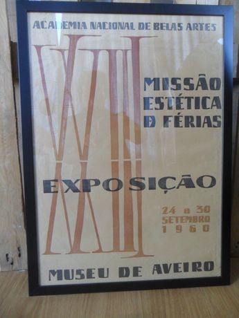 CARTAZ 1960 Academia Belas Artes Museu AVEIRO Design Futurista Poster