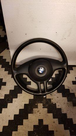 Kierownica skórzana BMW e46 z3 ładna + poduszka + tasma