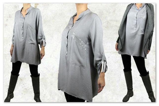 Włoska luźna koszula bawełna, roz Uniwersalny M L