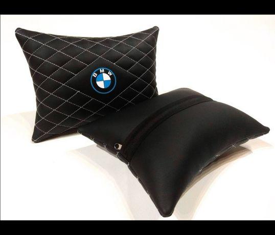 Poduszki na zagłówki samochodowe z logo BMW ta Skoda