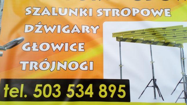Stemple budowlane Głowica Dźwigar Podpory Trójnoga Tanio!